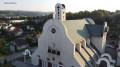 Kościół Świętego Piotra Apostoła w Wadowicach z lotu ptaka.